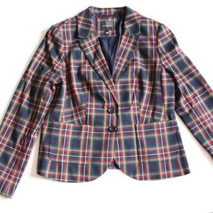 The Limited Plaid Blazer Sz L
